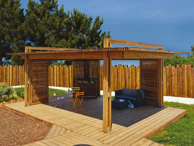 pergolas en bois photos